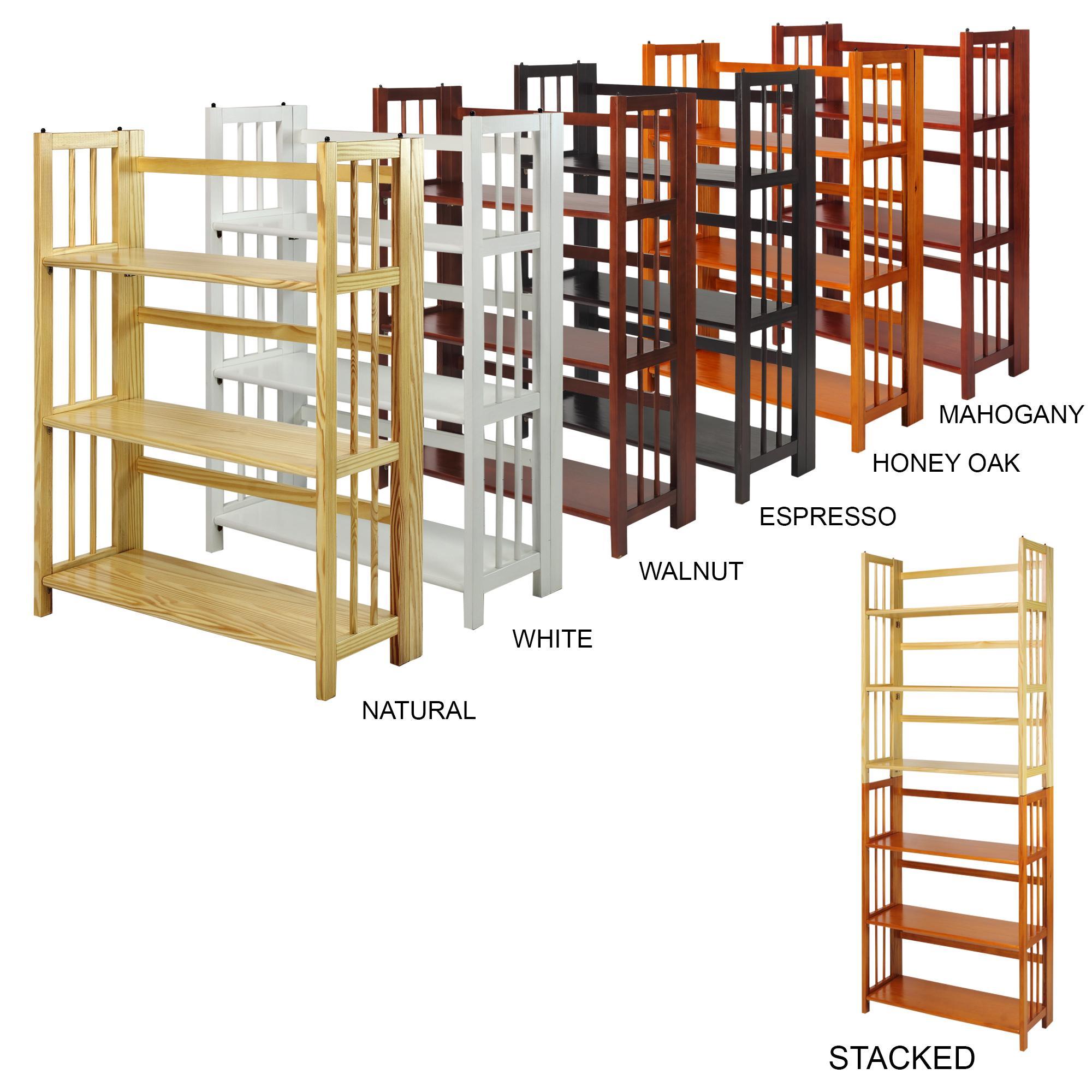 Amazon.com: Casual Home 3-Shelf Folding Stackable Bookcase