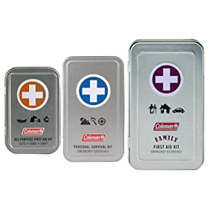First, aid, tin, survival, hiking, camping
