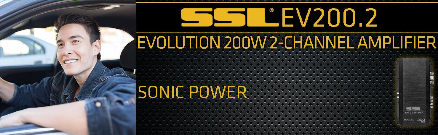 SSL SoundStorm EV200.2 200W 2-Channel Evolution Series Class A//B Car Amplifier