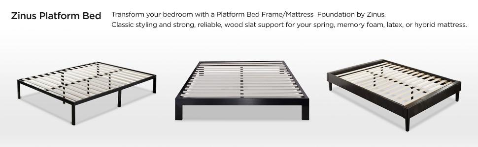 Amazoncom Zinus Modern Studio 10 Inch Platform 2000 Metal Bed
