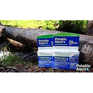 potable aqua, water, treatment, hiking, travel