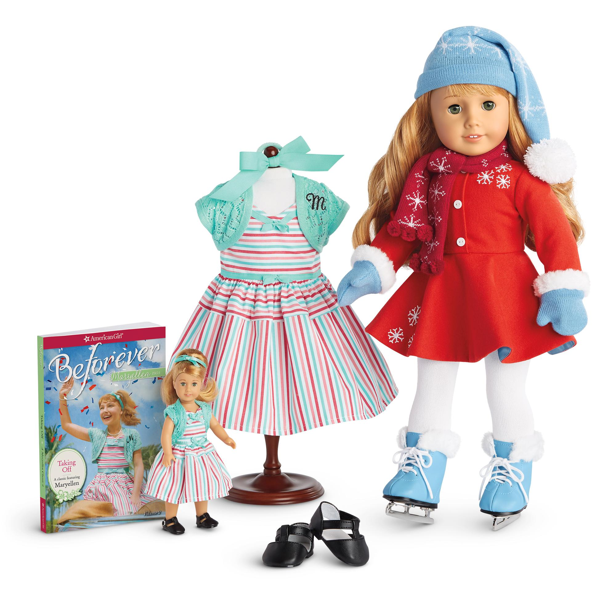 """American Girl 18/"""" Doll MARYELLEN Ice Skating Outfit White Tights ONLY"""