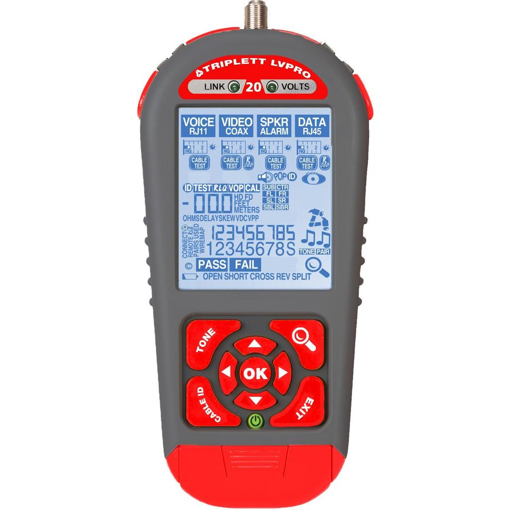 Triplett Lvpro20 Upgradeable Cable Tester With 6 Tester