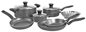 T-fal Initiatives Non-stick Charcoal 10-Piece Cookware Set