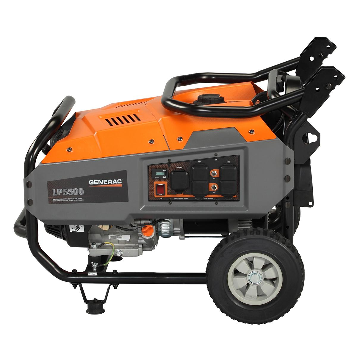 Generac 6001, 5500 Running Watts/6875 Starting Watts, Propane Powered  Portable Generator, CARB Compliant (Discontinued by Manufacturer)