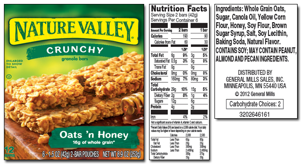 Amazon.com: Nature Valley Crunchy Granola Bars, Oats and ... Quaker Granola Bars Nutrition Facts
