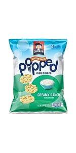 Amazon Com Quaker Popped Rice Crisp Snacks Gluten Free