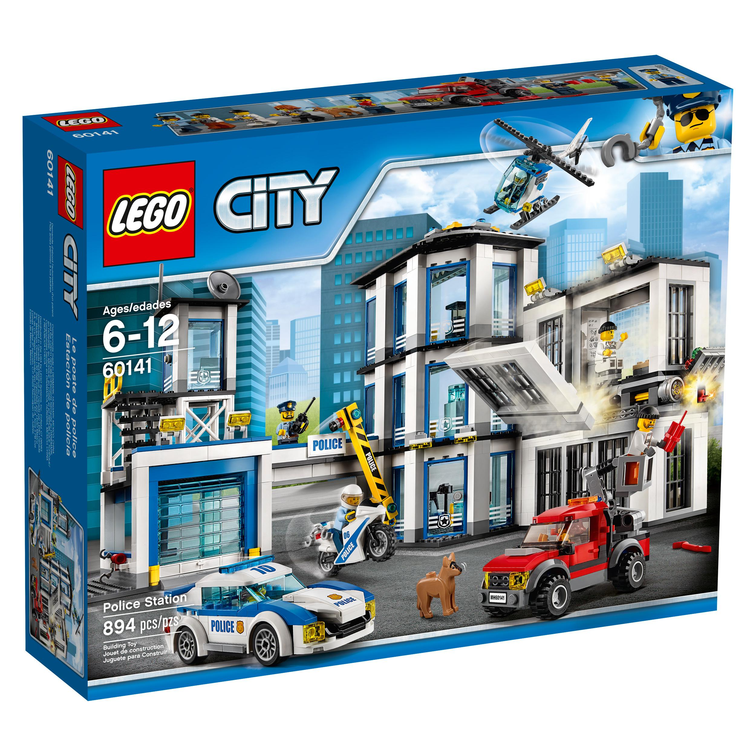 lego city police station 60141 cool toy for kids toys games. Black Bedroom Furniture Sets. Home Design Ideas