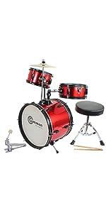 red junior drum set