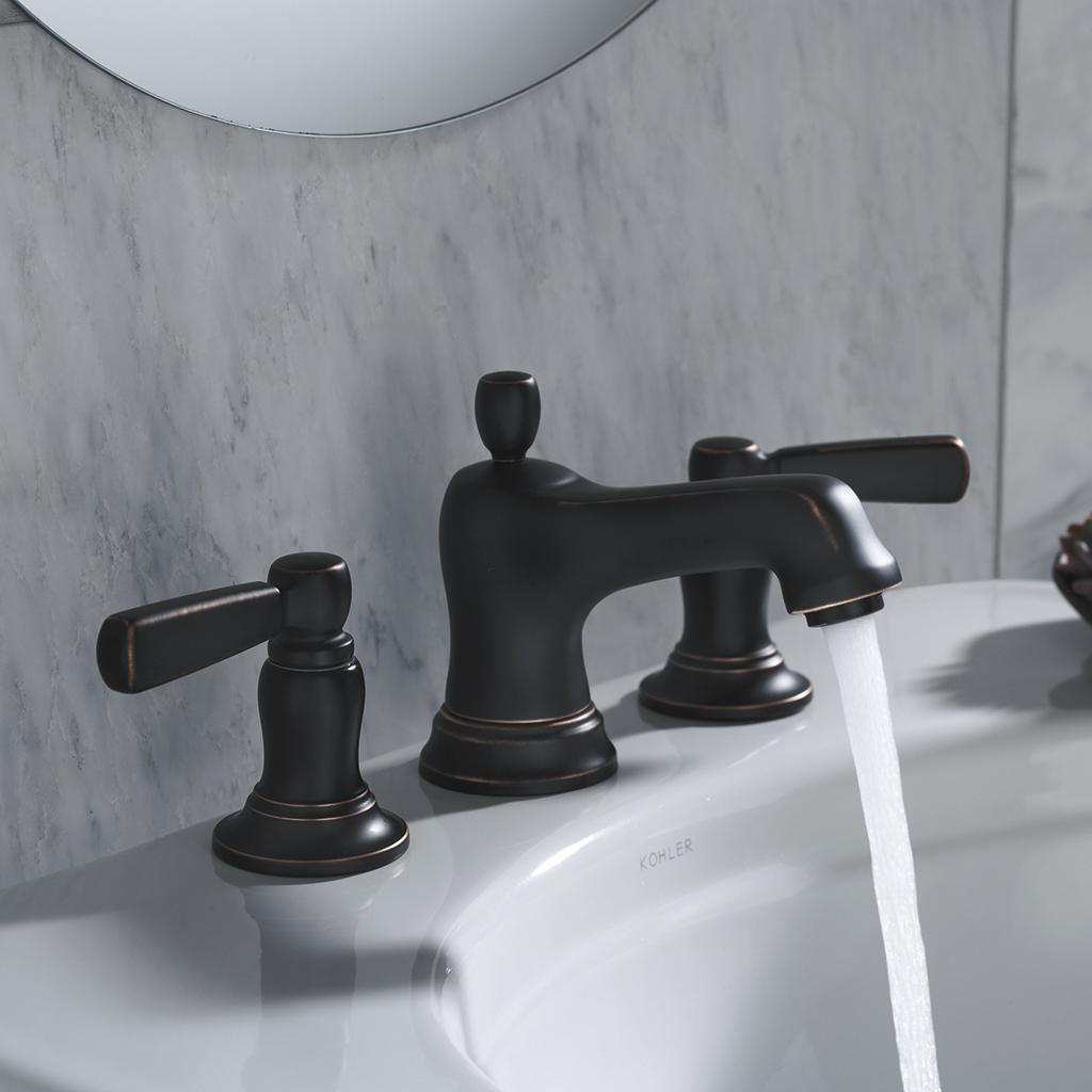 View larger. KOHLER K 10577 4 CP Bancroft Widespread Lavatory Faucet  Polished