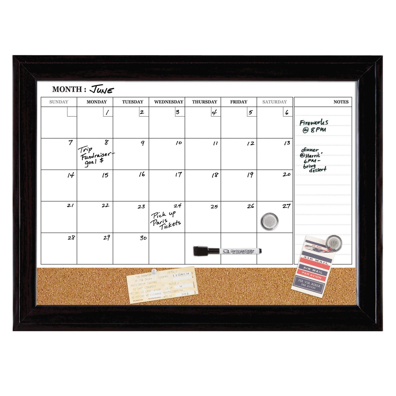Amazon.com : Quartet Magnetic Combination Calendar Board