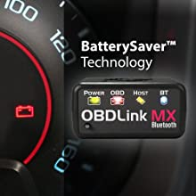 OBDLink MX Bluetooth utilizes BatterySaver Technology