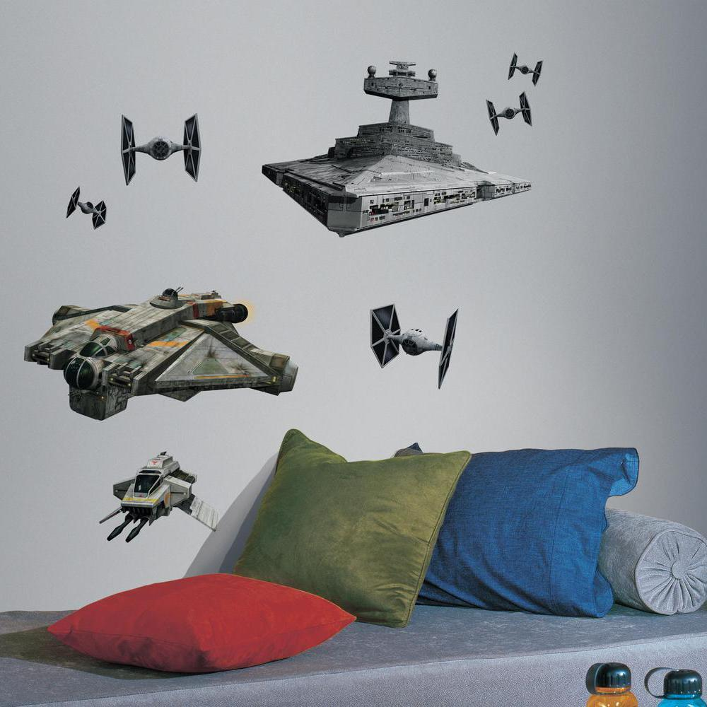 roommates rmk2657gm star wars rebel and imperial ships peel and stick giant wall decals. Black Bedroom Furniture Sets. Home Design Ideas