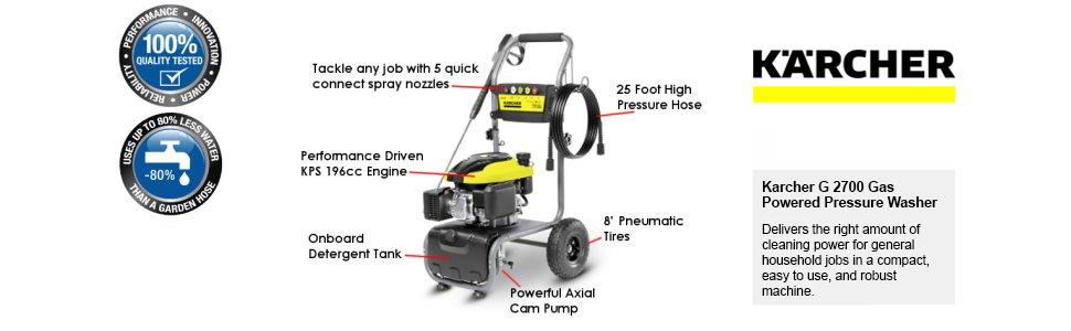 Karcher;G2700;Gas;Powered;Washer;Pressure;cleaning