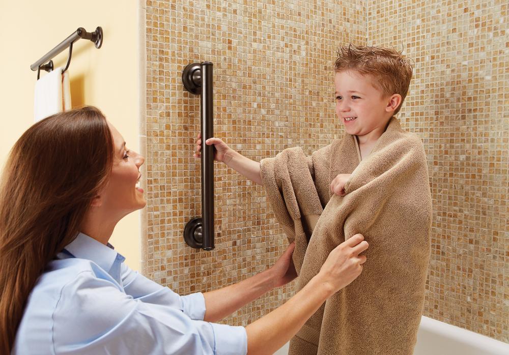 Amazon.com: Moen LR8716D3GOWB 16-Inch Designer Bathroom Grab Bar ...