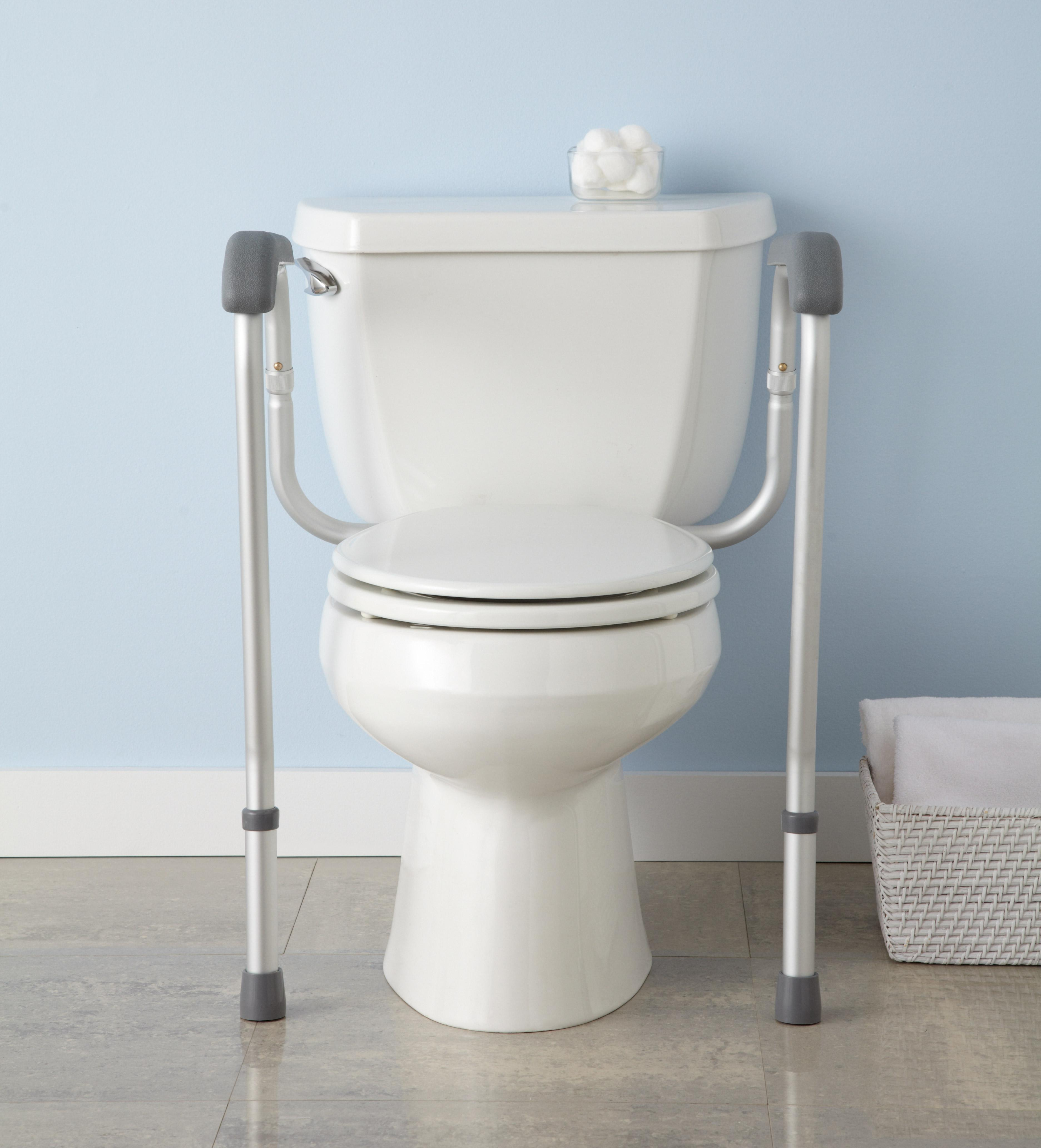 medline toilet safety rails safety frame for toilet with easy installation height