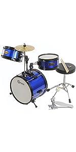 junior drum set gammon blue