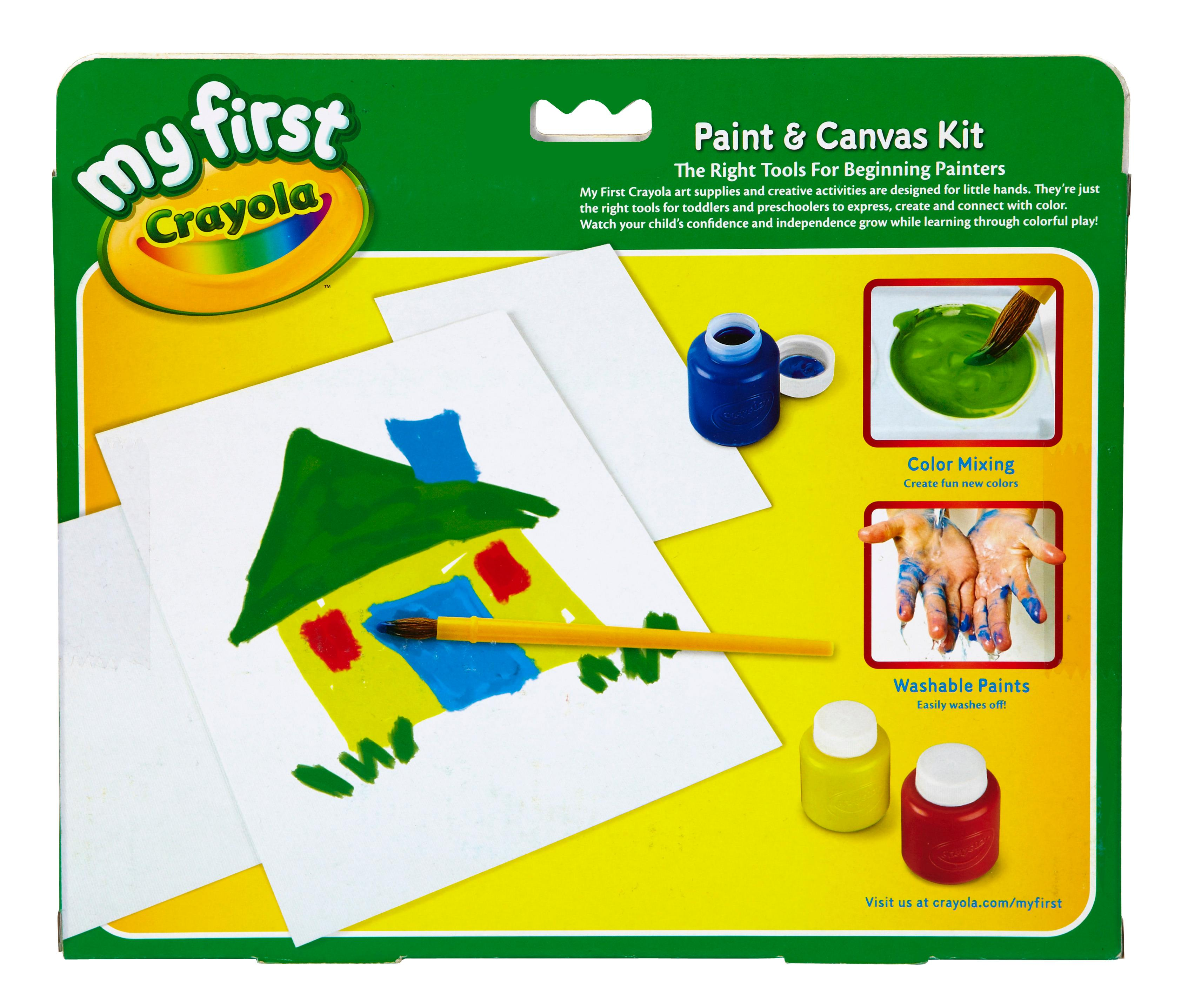 Amazon.com: Crayola 81-1362 My First Mess Free Paint Canvas Baby Toy ...