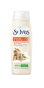 St. Ives Oatmeal and Shea Butter Body Wash bottle