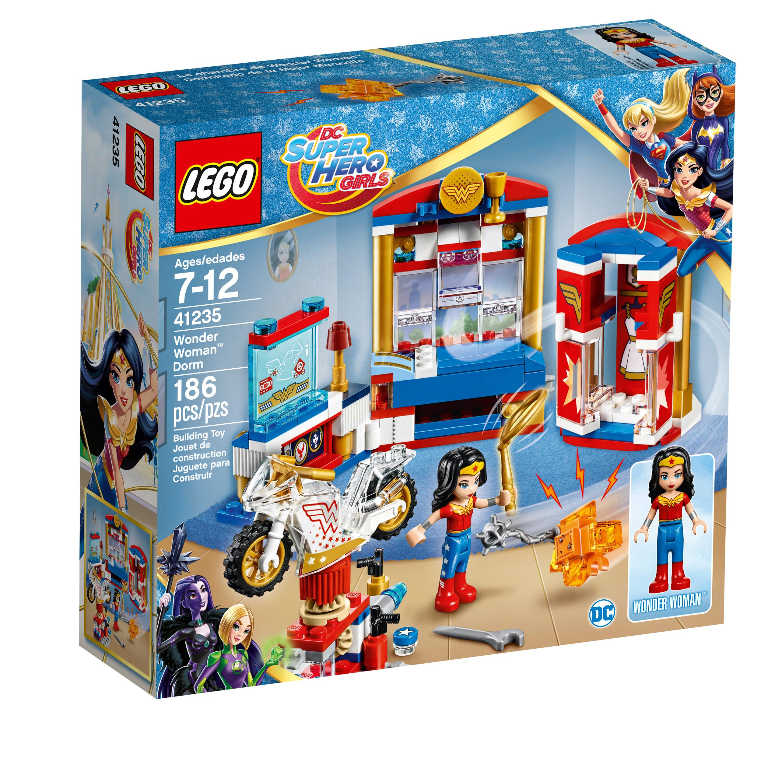 Lego Toys For Girls : Amazon lego dc super hero girls wonder woman dorm