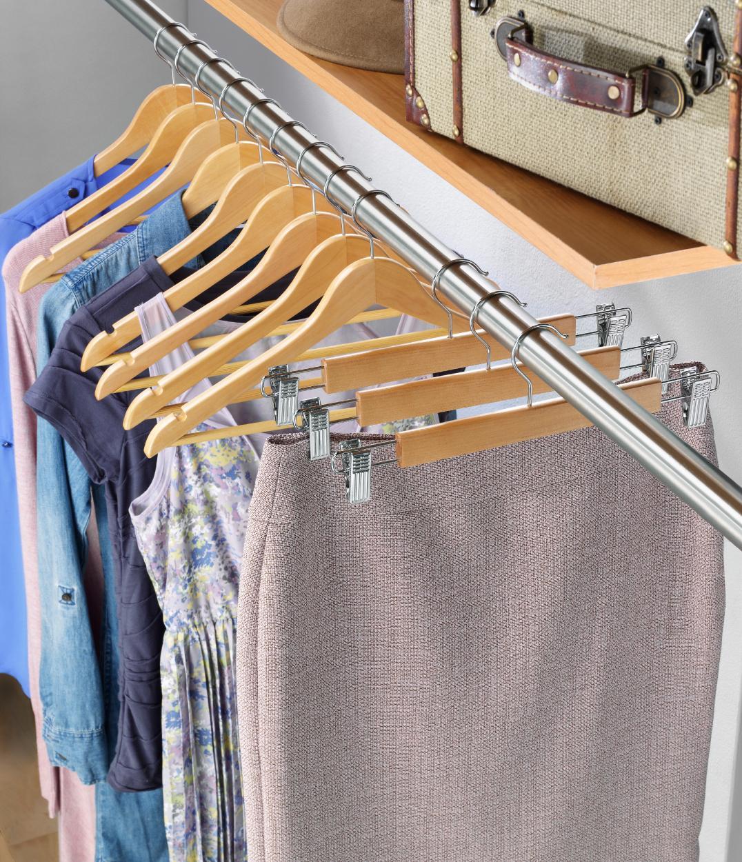 Amazon.com: Whitmor GRADE A Natural Wood Suit Hangers (Set