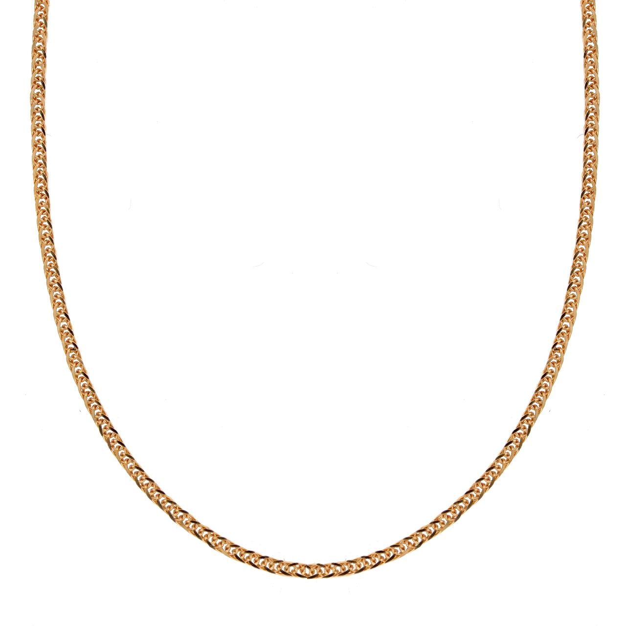 Amazon.com: 14k Rose Gold .7mm Diamond-Cut Wheat Chain
