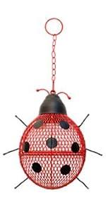 Ladybug Mesh Wild Bird Feeder