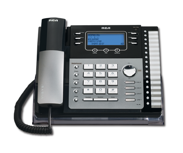 Image result for Four-line corded expandable business phone.