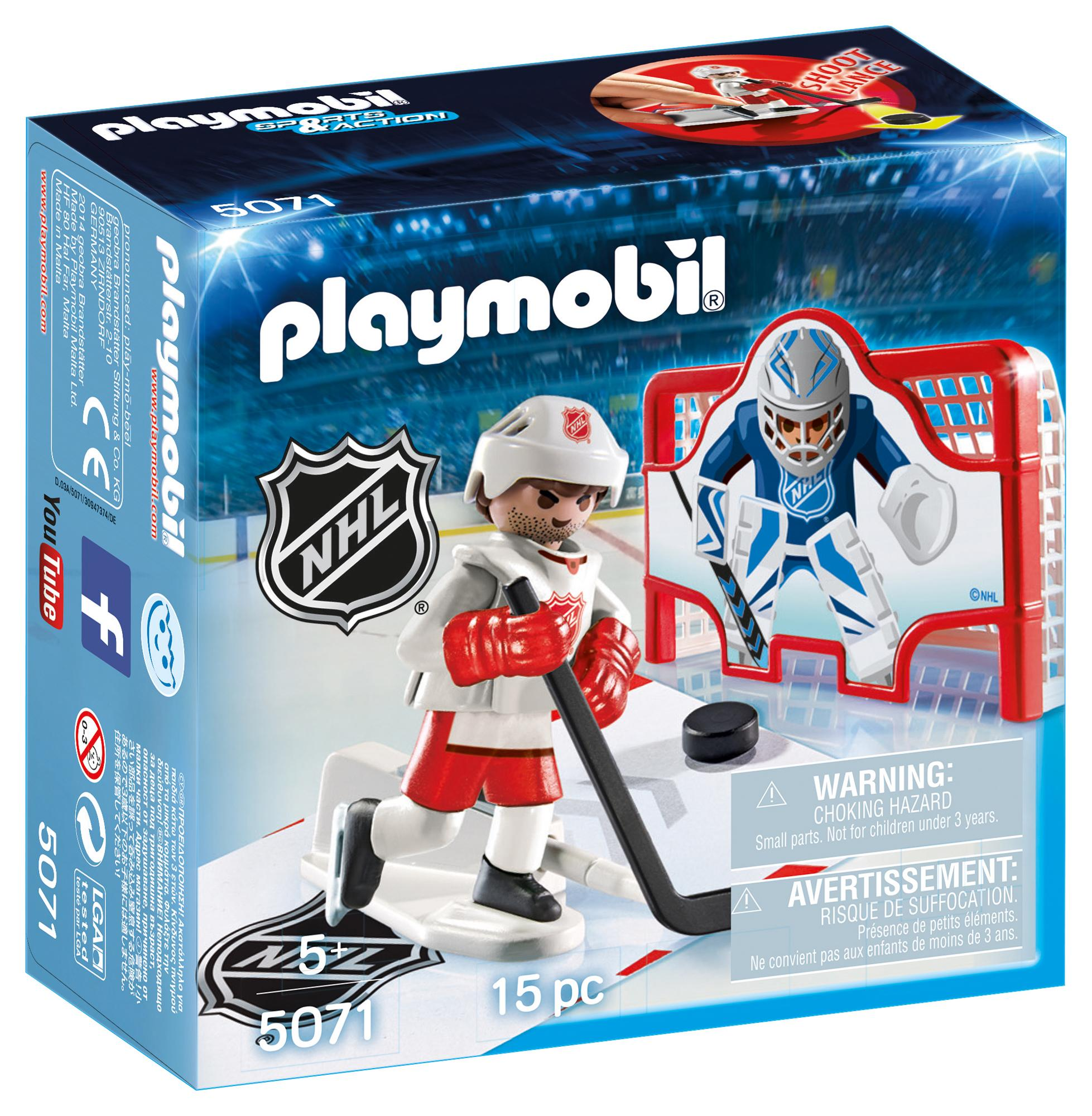 Amazon.com: PLAYMOBIL NHL Shooting Pad: Toys & Games