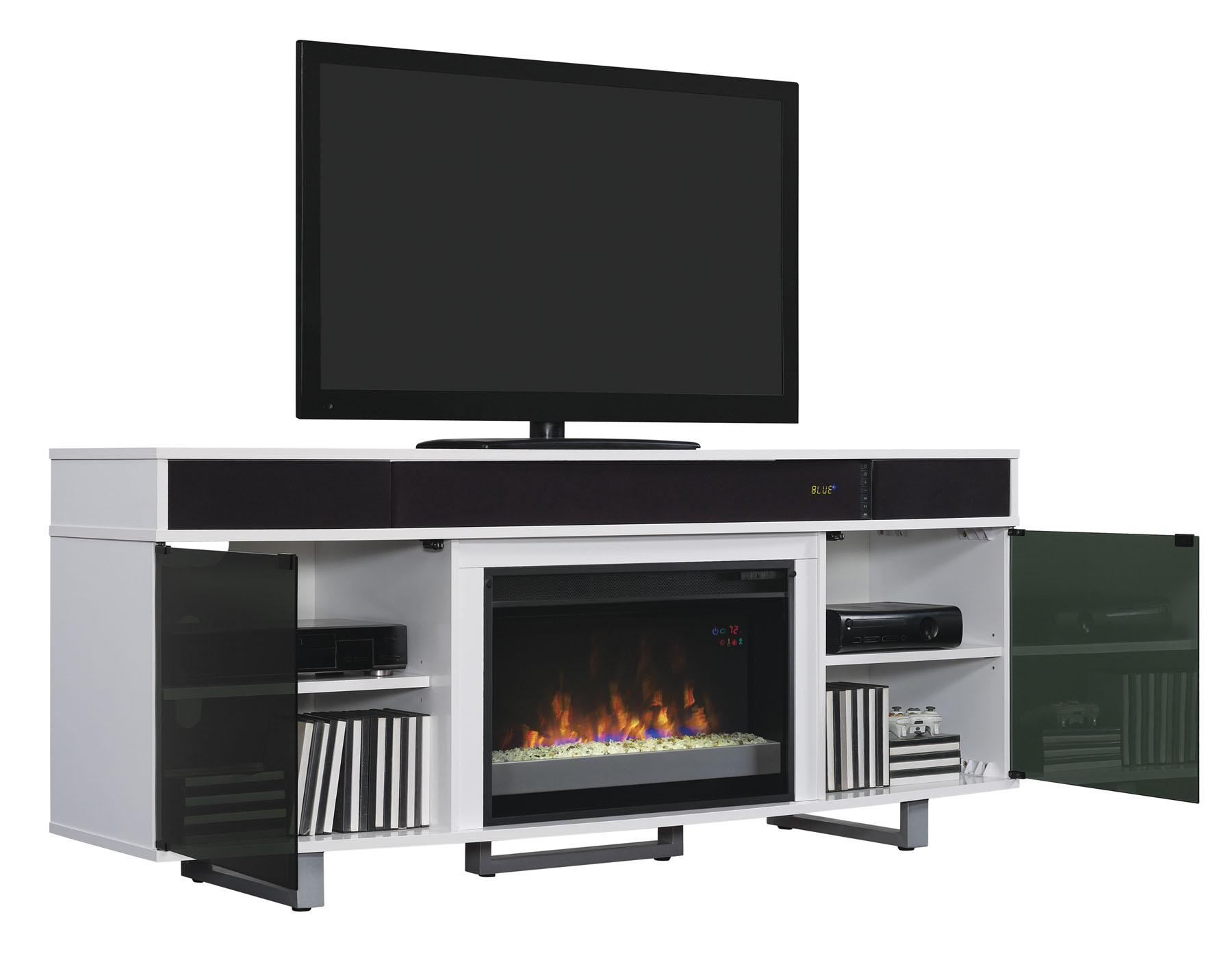 furniture with tv stand ashley design electric wide signature by fireplace insert large cabinet