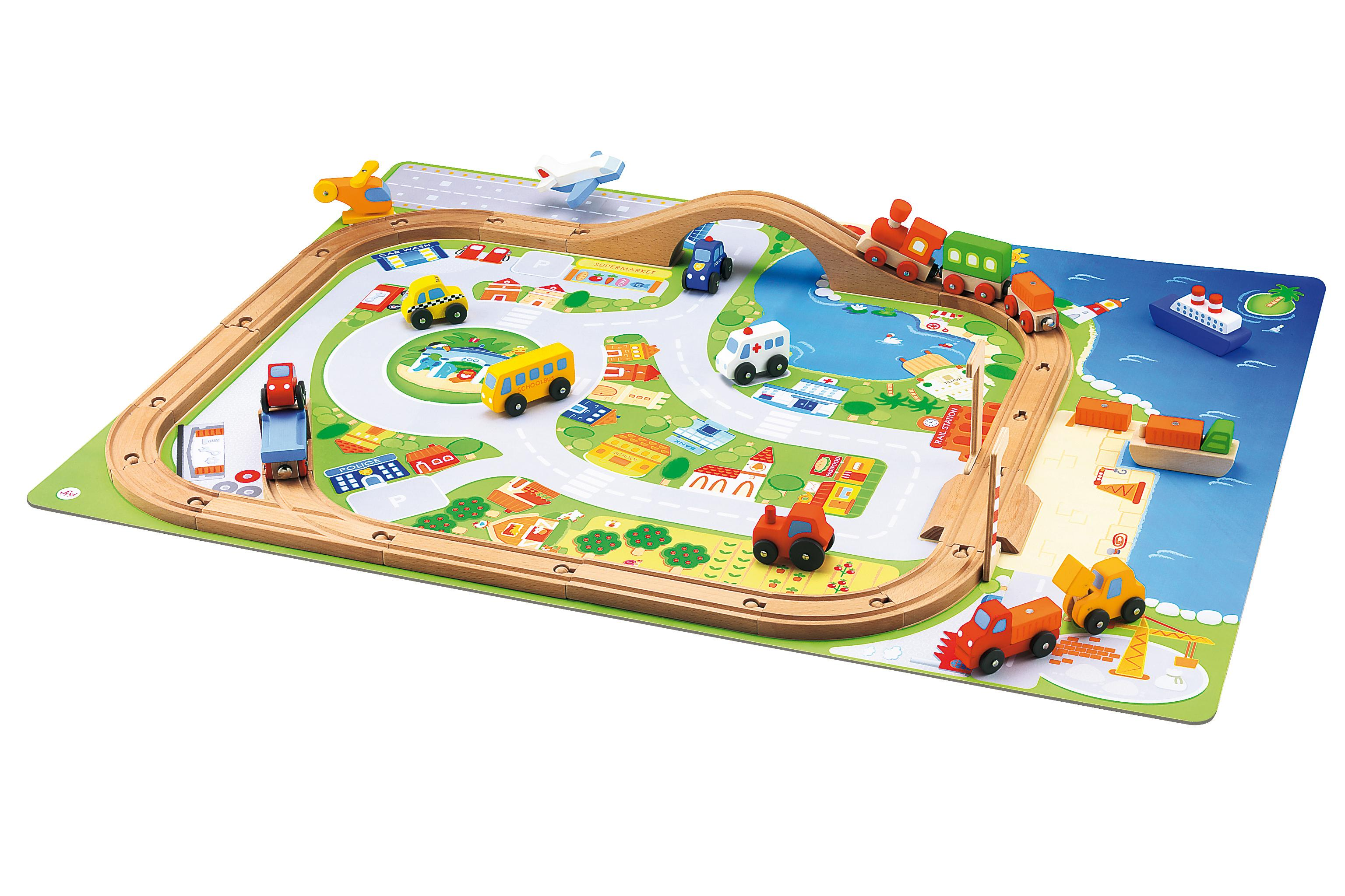 Amazon Com Sevi Village Train Set Toys Amp Games