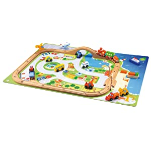 Amazon Com Sevi Village Train Set Toys Amp Games