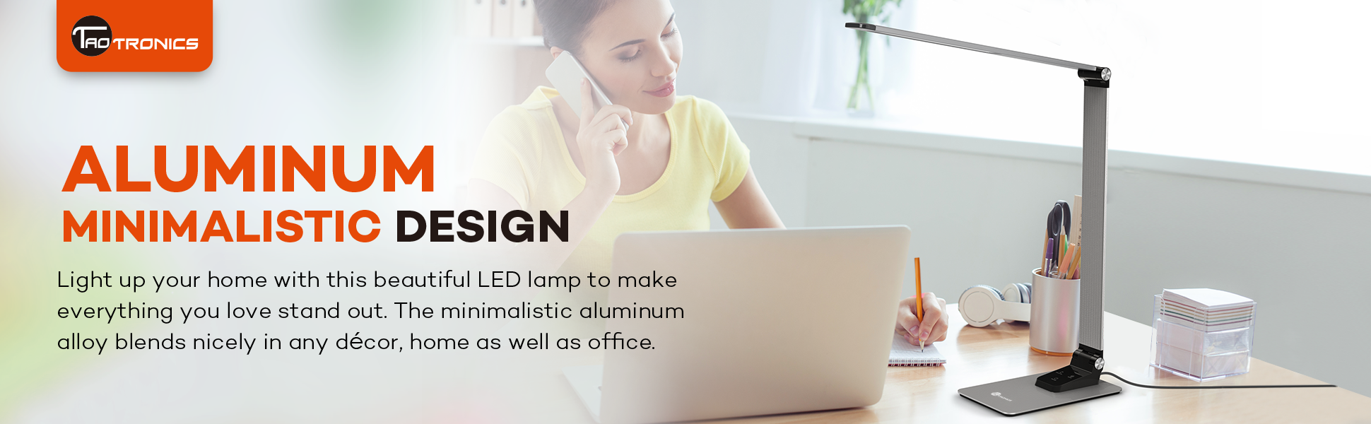 Taotronics Led Desk Lamp With High Speed 5v 2a Usb