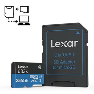 Lexar High-Performance microSDXC 633x 200GB UHS-I w/USB 3.0 Reader Flash Memory Card - LSDMI200BBNL633R