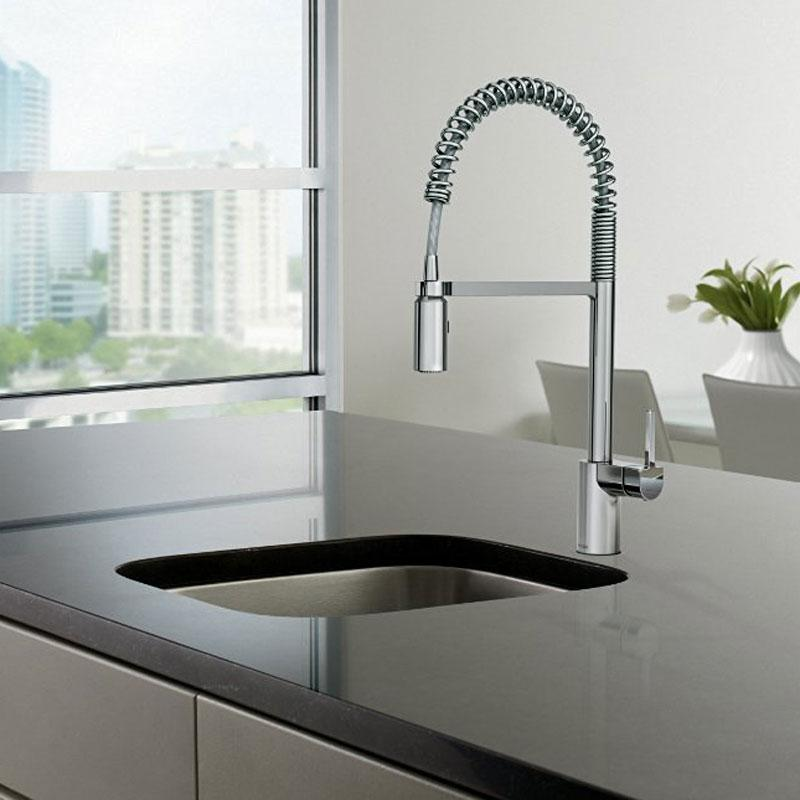 Moen  Align One Handle Pre Rinse Spring Pulldown Kitchen Faucet Chrome