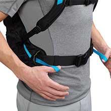 reservoir, bladder, compression straps