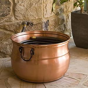 CobraCo Copper Cauldron Garden Hose Holder