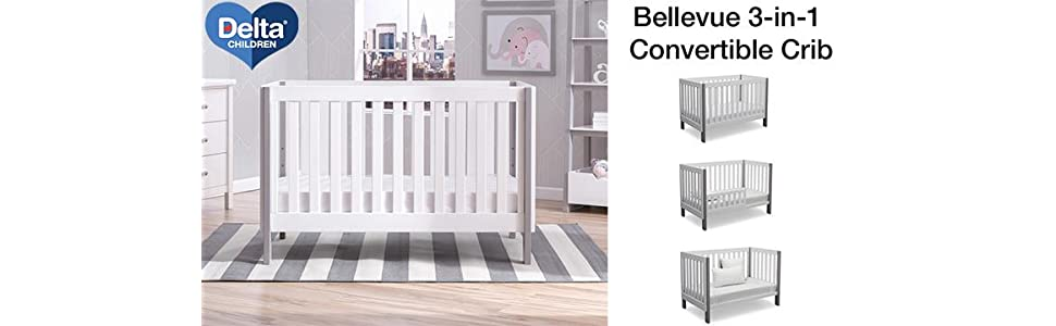 Amazon Delta Children Bellevue 3 In 1 Convertible Crib