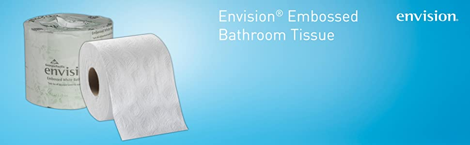 Amazon Com Envision 1 Ply Embossed Toilet Paper By Gp Pro