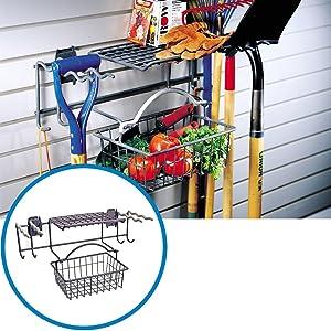 Activity Organizer Garden Rack with Basket