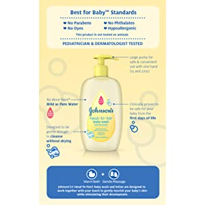 JOHNSON'S HEAD-TO-TOE Baby Wash - 2 Step Bathtime Routine