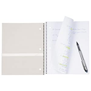 2 subject notebook, notebook with dividers, college ruled notebook