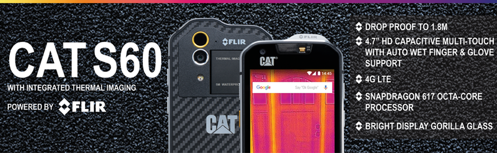 newest b4b9d 4fef0 Details about CAT S60 - Waterproof GSM Unlocked - Thermal Imaging + FREE  POWER PACK!