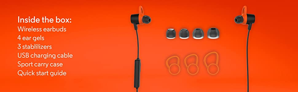 Motorola VerveLoop+ Super Light, Waterproof, Wireless Stereo Earbuds