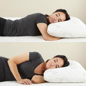 side back stomach sleeper memory foam pillow bamboo