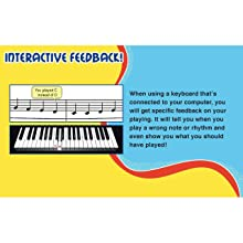 interactive feedback on kids piano lessons