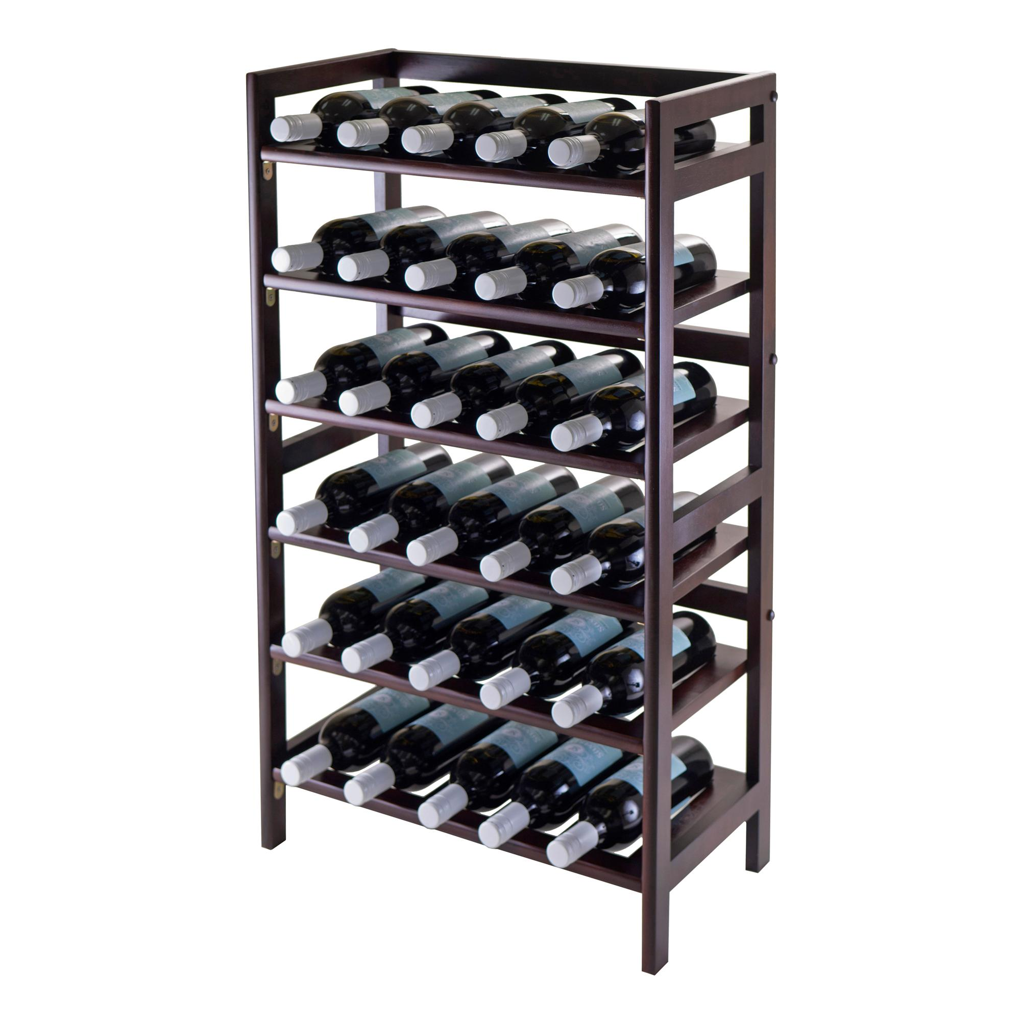 Winsome 6 tier silvi wine rack 30 bottle for Old wine rack