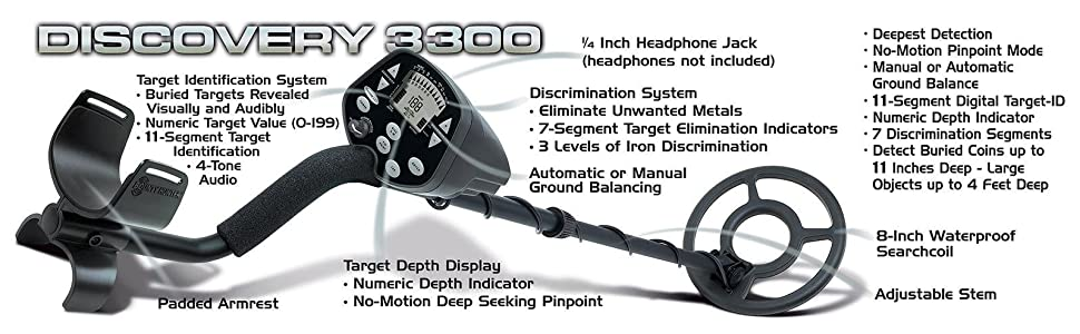 Discovery 3300 metal detector