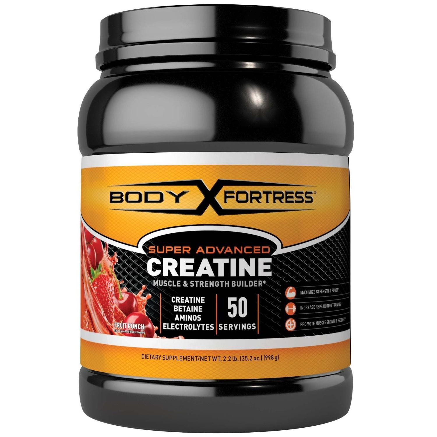 Amazon.com: Body Fortress Super Advanced Creatine, Fruit Punch, 2.2 Pounds: Health & Personal Care