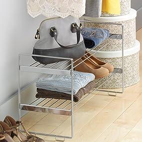 portable shelves, short shelves, short shelf, seville, closetmaid, grayline